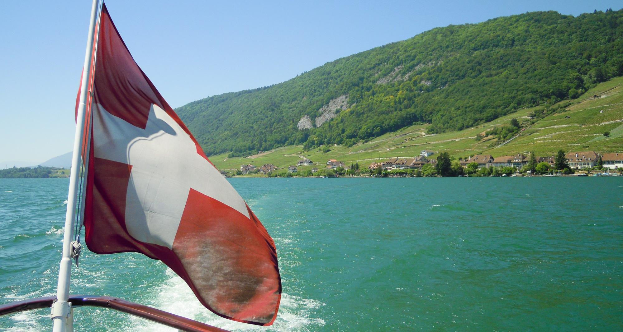 Schweizer Flagge, Bieler See