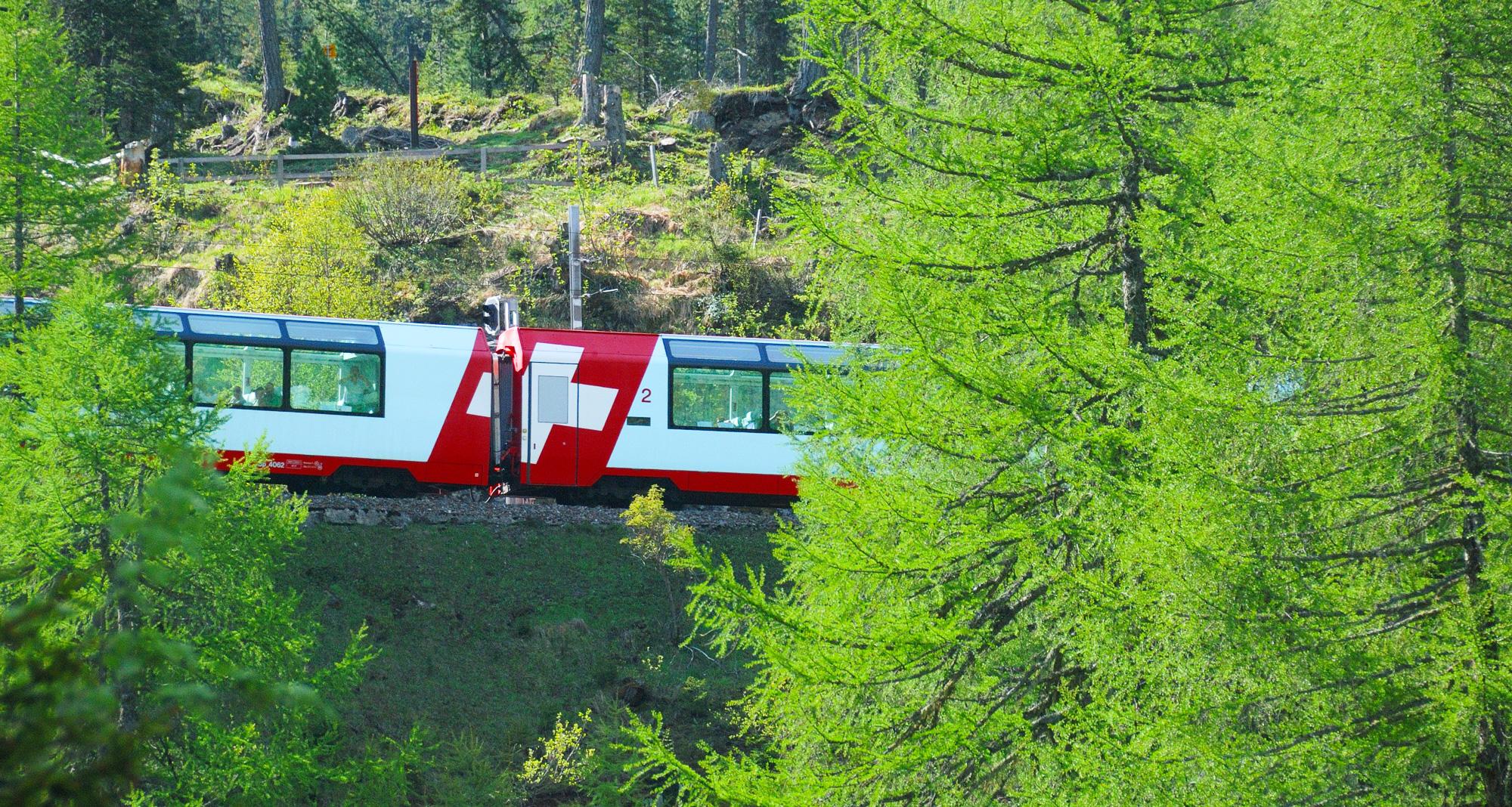 Schweizer Flagge, Glacier Express