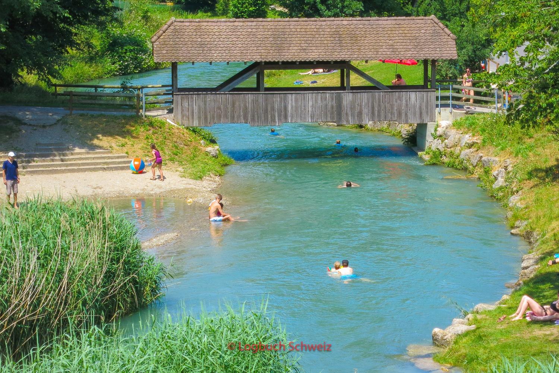 Aareschwimmen in Aarberg