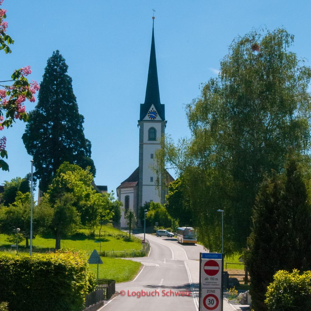 Bodenseeradweg Schweiz Kirche Altnau