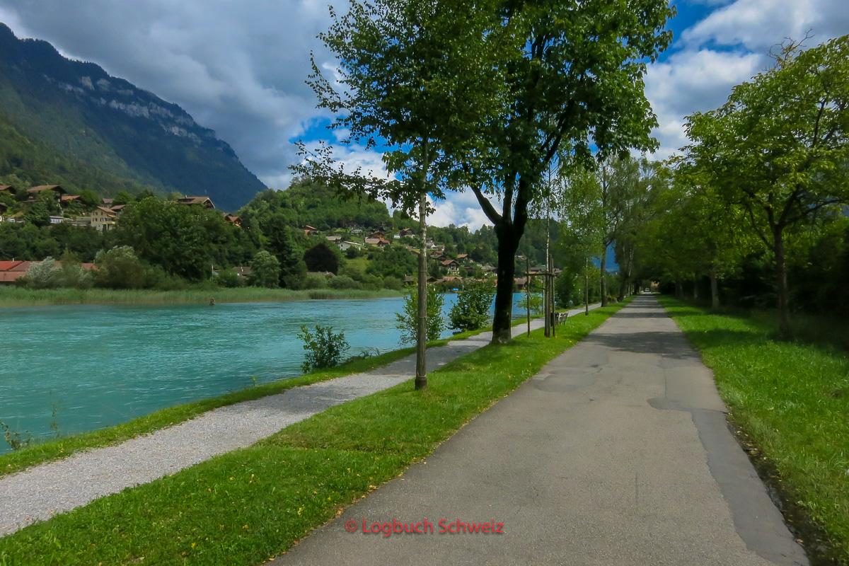 Brienzersee Fahrradtour, Iseltwald, Giessbachfälle