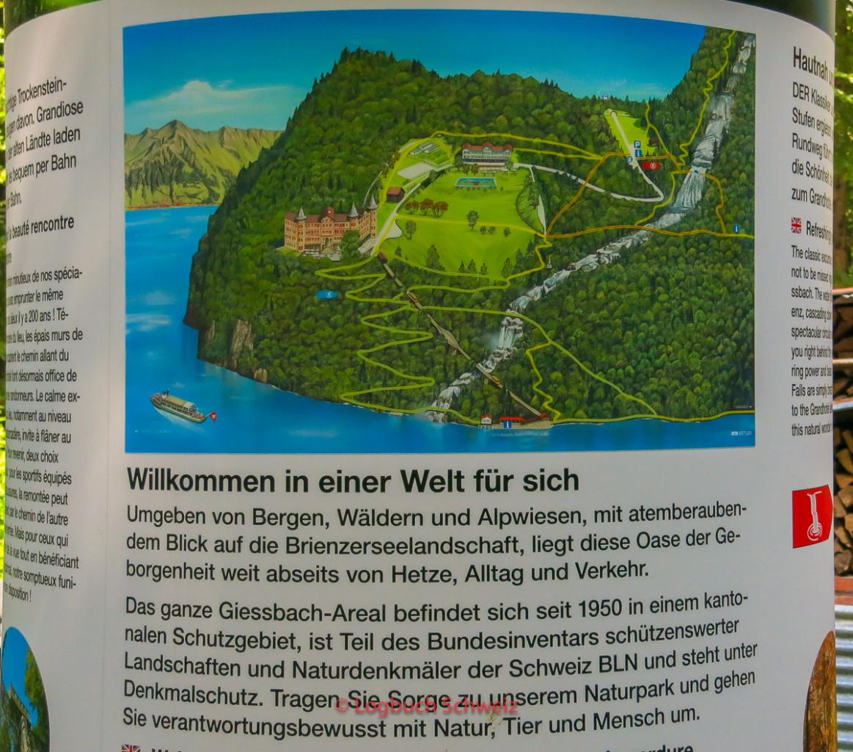 Giessbachfälle am Brienzersee