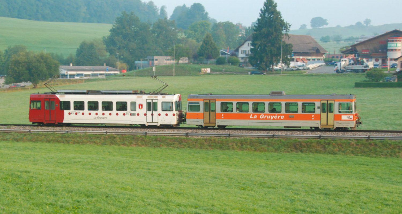 Eisenbahn Schweiz, Chemins de fer fribourgeois Gruyère–Fribourg–Morat