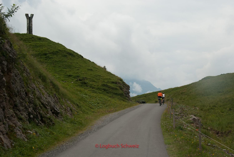 Pragelpass mit dem Fahrrad