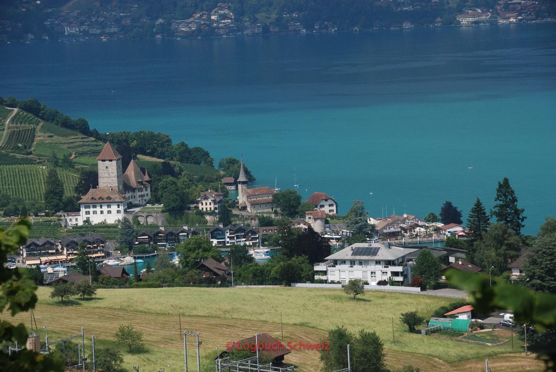 Spiez am Thuner See, mit dem Fahrrad