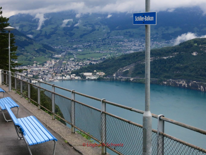 Vierwaldstätter See, Schiller Balkon, mit dem Fahrrad