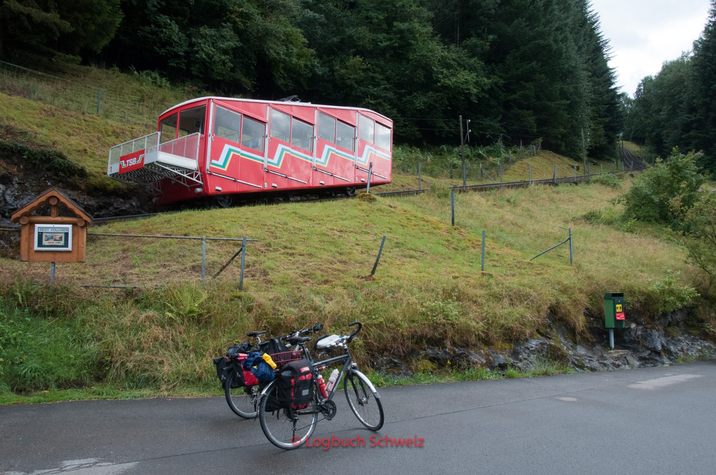 Treib Seelisberg Bahn, mit dem Fahrrad