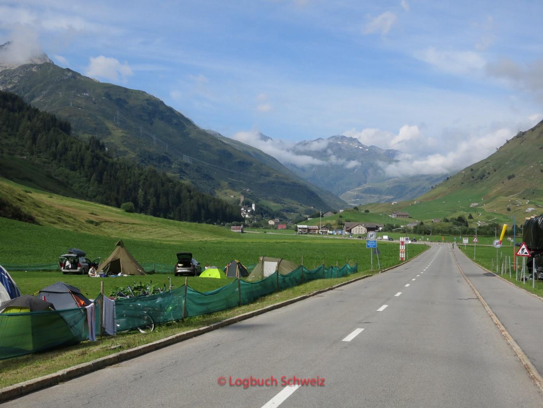 Gotthard Pass mit dem Fahrrad, Urserental