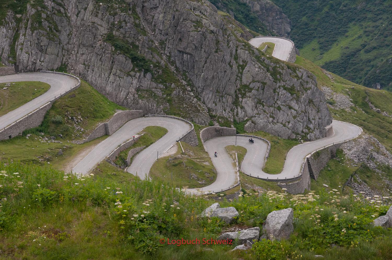 Gotthardpass mit dem Fahrrad, Tremola