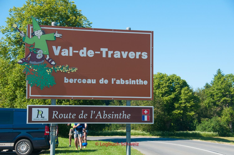 Anfahrt vom Val de Travers