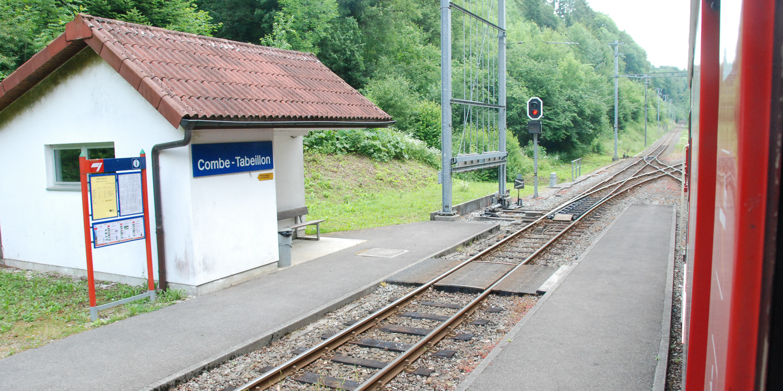 Chemin de fer du Jura, Spitzkehre Come Tabeillon