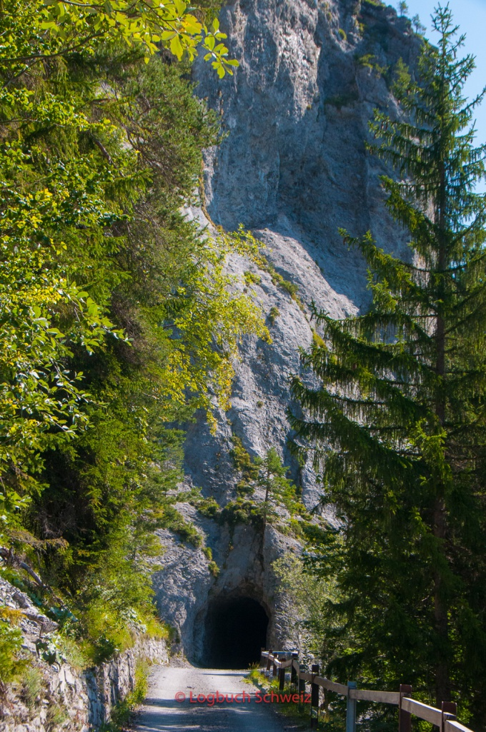 Tunnelportal am Kunkelspass