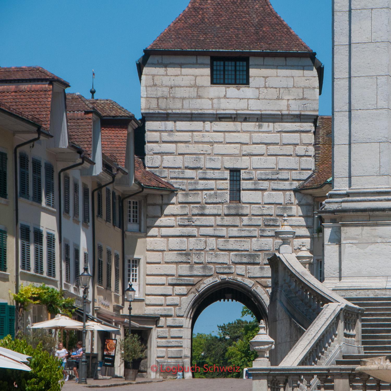 Reste der Stadtmauer in Solothurn - das Baseltor