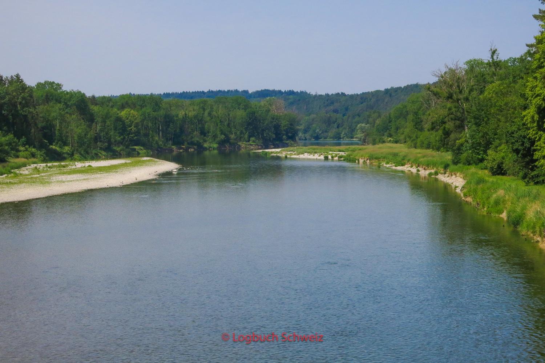 Mündung der Thur in den Rhein