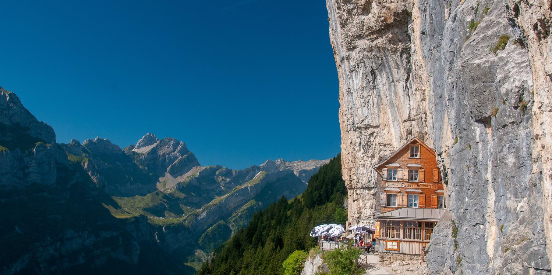 Wildkirchli, Gasthaus Aescher, Alpstein, Ebenalp